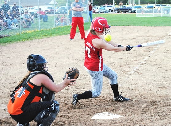 Spencer senior Paige Johnson was named the 2013 Cloverbelt Conference East Division Softball Player of the Year. (Photo by Paul Lecker/MarshfieldAreaSports.com)