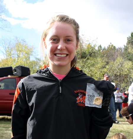 Marshfield's Rebecca Voss won the WIAA Division 1 cross country sectional girls race at Standing Rock Park in Stevens Point on Saturday. (Photo submitted)