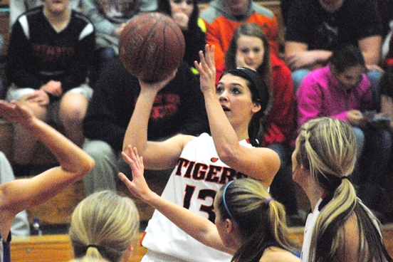 Stratford's Macie Frueh tops the Tigers in scoring through their first nine games of the season. (Photo by Paul Lecker/MarshfieldAreaSports.com)