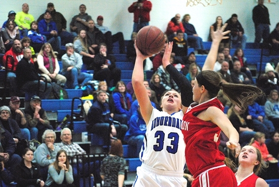 Auburndale's Taylor Gotz was a first-team selection to the 2014-15 All-Marawood Conference South Division Girls Basketball Team. (Photo by Paul Lecker/MarshfieldAreaSports.com)
