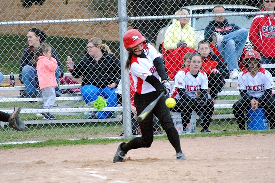 Spencer senior shortstop Marisa Johnson was picked as the 2015 Cloverbelt Conference East Division Softball Player of the Year. (Photo by Paul Lecker/MarshfieldAreaSports.com)