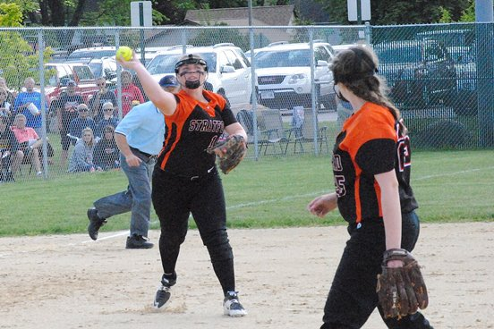 Stratford third baseman Kaylee Geiger was one of three Tigers named to the first team of the 2016 all-Marawood Conference South Division softball team. (Photo by Paul Lecker/MarshfieldAreaSports.com)