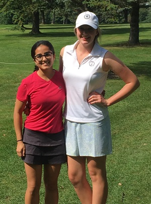 Roma Shah, left, and Megan Vandehey will make up the Marshfield High School girls golf team this fall. (Submitted photo)