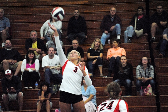 Marshfield senior hitter Stephanie Rhodes returns for the Tigers after earning all-Wisconsin Valley Conference honors in 2015. (Photo by Paul Lecker/MarshfieldAreaSports.com)