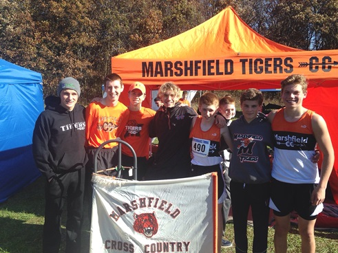 The Marshfield boys cross country team finished fifth at the WIAA Division 1 sectional Saturday at Standing Rock Park in Stevens Point. (Submitted photo)