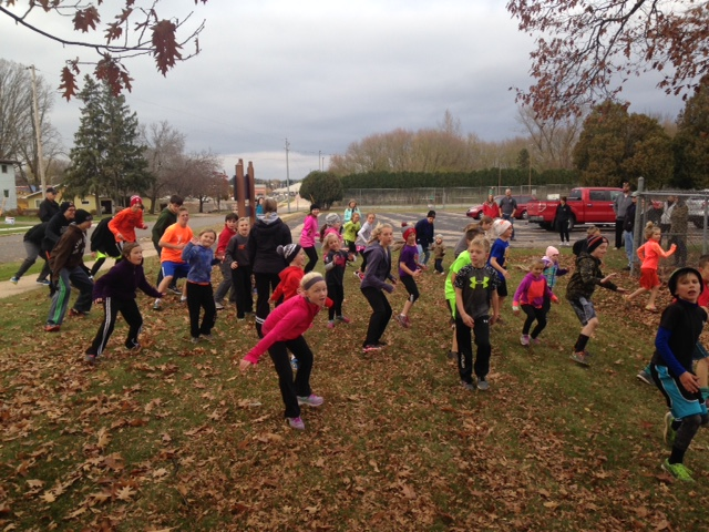 A total of 30 kids ran in the one-mile Great Pumpkin Run on Thursday at Braem Park. (Submitted photo)