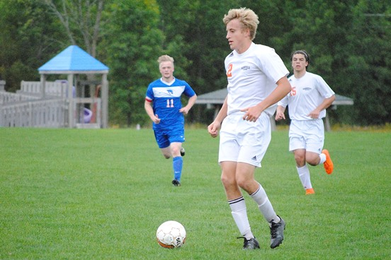 Marshfield senior Alec Hinson was a unanimous first-team selection to the 2016 All-Wisconsin Valley Conference Boys Soccer Team, as voted on by the conference's seven coaches. (Photo by Paul Lecker/MarshfieldAreaSports.com)