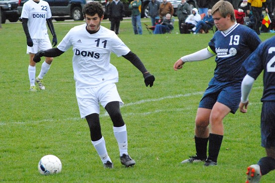 Columbus Catholic soccer player Nadim Torbey has been voted as the winner of the WDLB-WOSQ Radio and MarshfieldAreaSports.com October High School Athlete of the Month. (Photo by Paul Lecker/MarshfieldAreaSports.com)